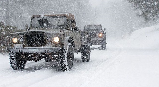 Bug out vehicles in blizzard