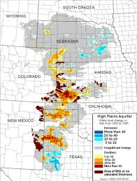 High plains aquifer map