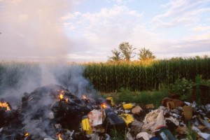 burning waste