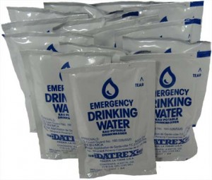 emergency drinking water ratio