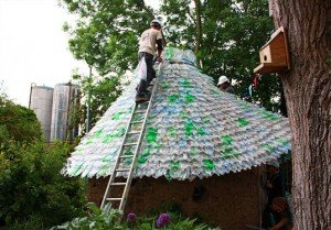 Recycle 7000 Plastic Bottles into a Colorful Shingled Roof