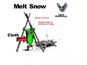 melt snow