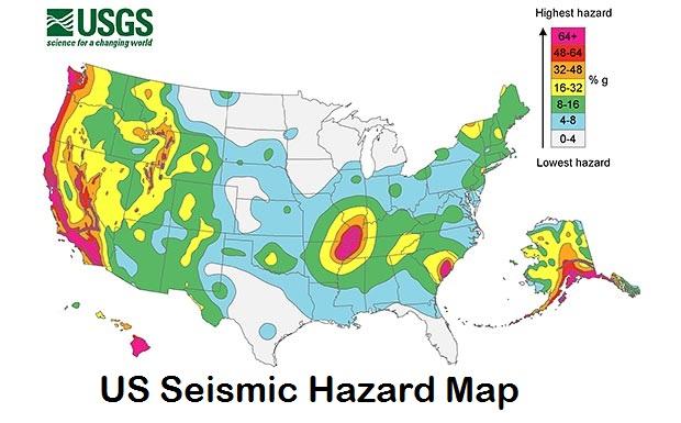 US Seismic Hazard Map