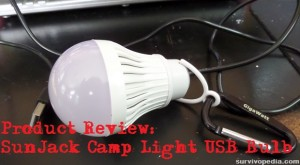 Product Review: SunJack Camp Light USB Bulb