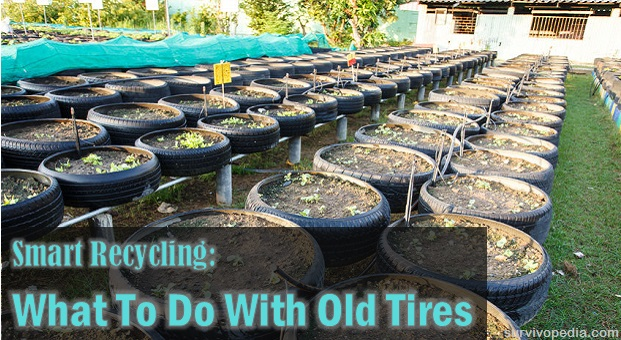Smart recycling what to do with old tires survival for What to do with old tires