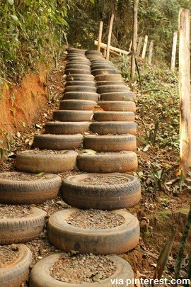 Smart recycling what to do with old tires survivopedia for What to do with old tires