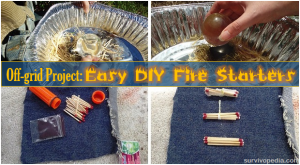 Off-grid Project: Easy DIY Fire Starters