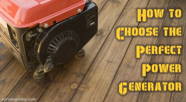 Power Generator on wooden floor