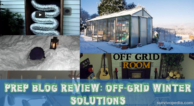 Winter off grid photo collage