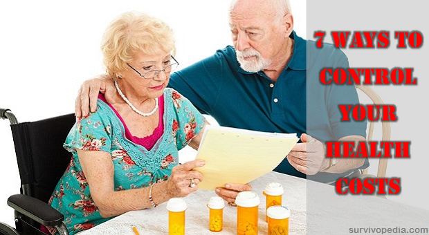 Senior couple go over their medical and prescription drug bills.