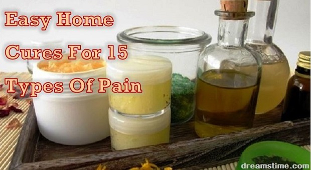 jars and bottles of homemade cures for pain