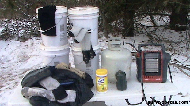 snow storm preparation for emergency heating