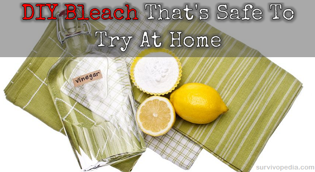 Vinegar and lemon bleach