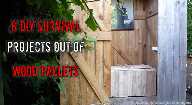 Wood Pallets DIY outhouse