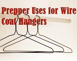 coat hangers on a rack