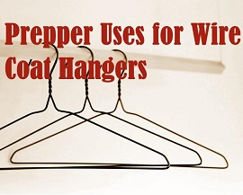 coat hangers on a rack