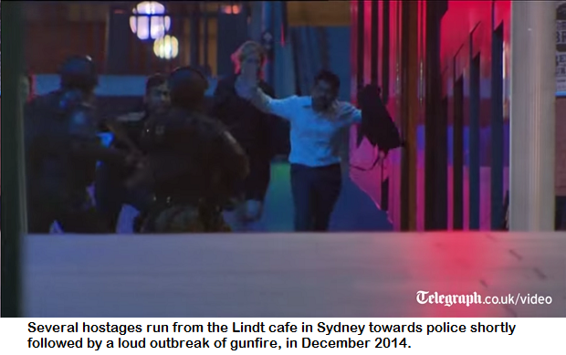 hostages escape in sydney cafe terrorist attack