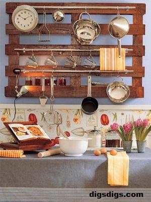 wood pallet Kitchen Storage Ideas