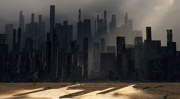 Post apocalyptical urban landscape