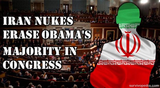 Iran nukes erase obama's majority