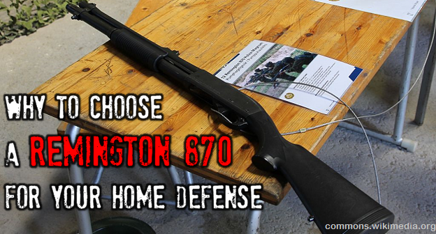 Remington 870 pump action shotgun