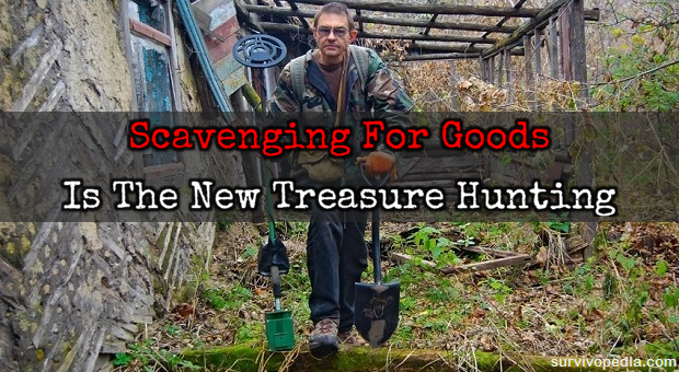 man scavenging for good