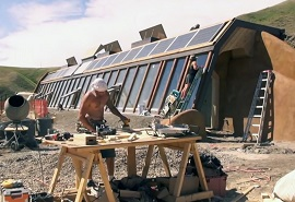 building earthship home