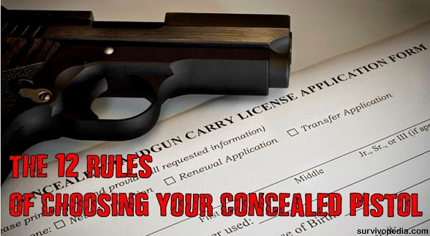 rule of choosing your concealed pistol