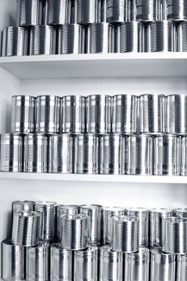 canned food stockpile