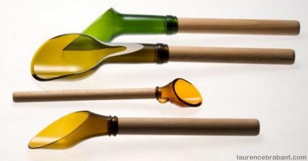 Glass bottle spoon