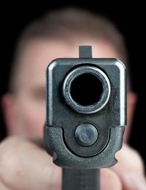 Self defense pointing gun