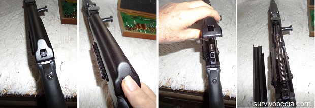 removing the receiver cover