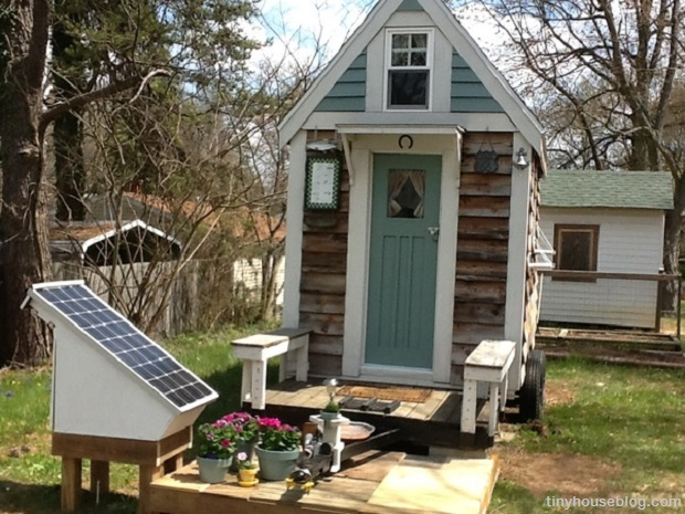 Marsha's Tiny House and Solar Setup