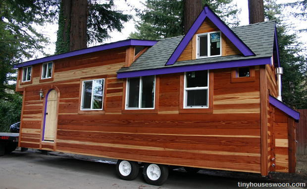 Redwood tiny house