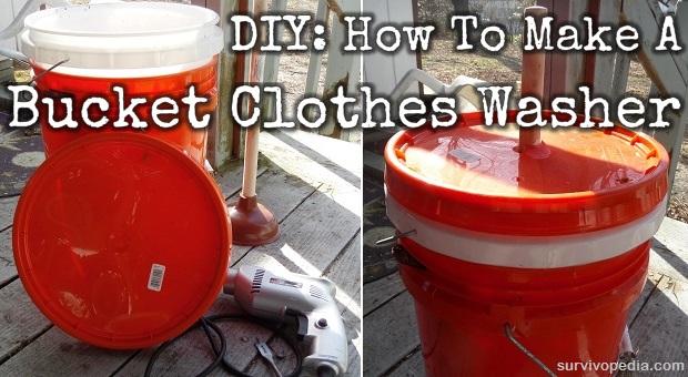 Diy How To Make A Bucket Clothes Washer Survivopedia