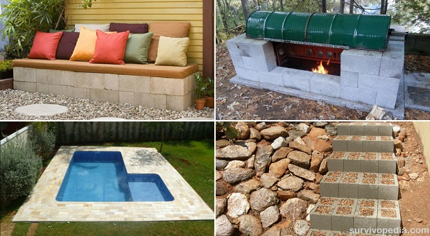 DIY Projects: 15 Ideas For Using Cinder Blocks | Survivopedia
