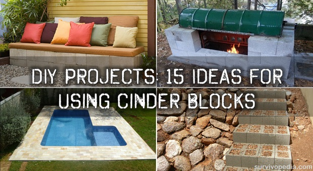 Diy projects 15 ideas for using cinder blocks survivopedia for Diy brick projects