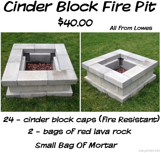 Diy projects 15 ideas for using cinder blocks survivopedia for How to build a fire pit with concrete blocks
