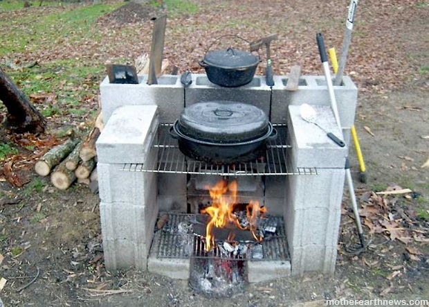 Diy projects 15 ideas for using cinder blocks survivopedia for Easy diy fire pit with grill