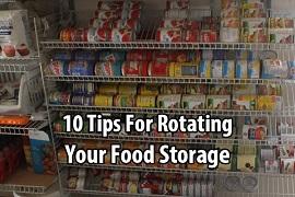 Rotating food storage