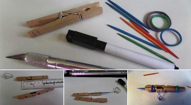 DIY Clothespin Gun