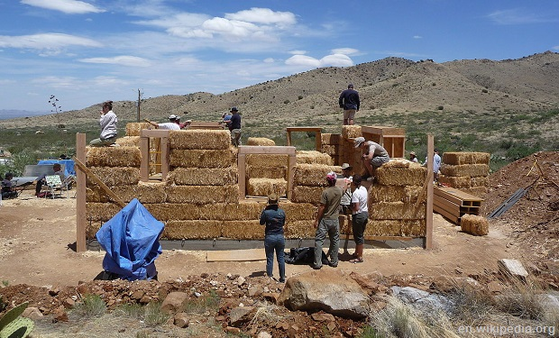 straw bale construction
