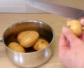 skin potatoes