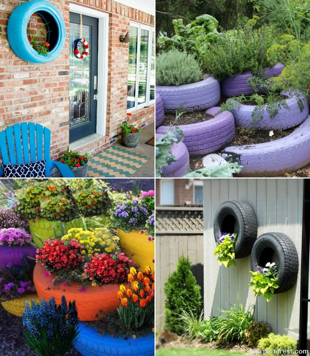 How To Recycle Tires For Your Homestead | Survivopedia Tire Garden Design on tire art, tire landscaping, tire jewelry, tire fences, tire ponds, tire walls, tire water features, tire concrete, tire trees, spring designs, roof garden designs, tube garden designs, tire furniture,
