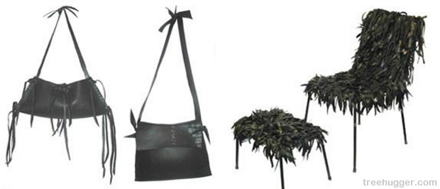 Tire chair and bags