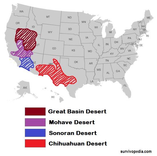 USA desert map