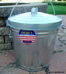 Behrens Locking Lid 10-Gallon Steel Can