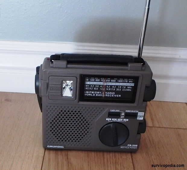 Radio 2 - Running off battery with antenna extended but not plugged into a wall outlet