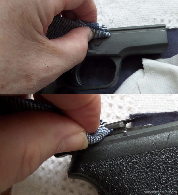 use a rag with gun cleaner