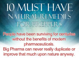 10 Must Have Natural Remedies For Preppers
